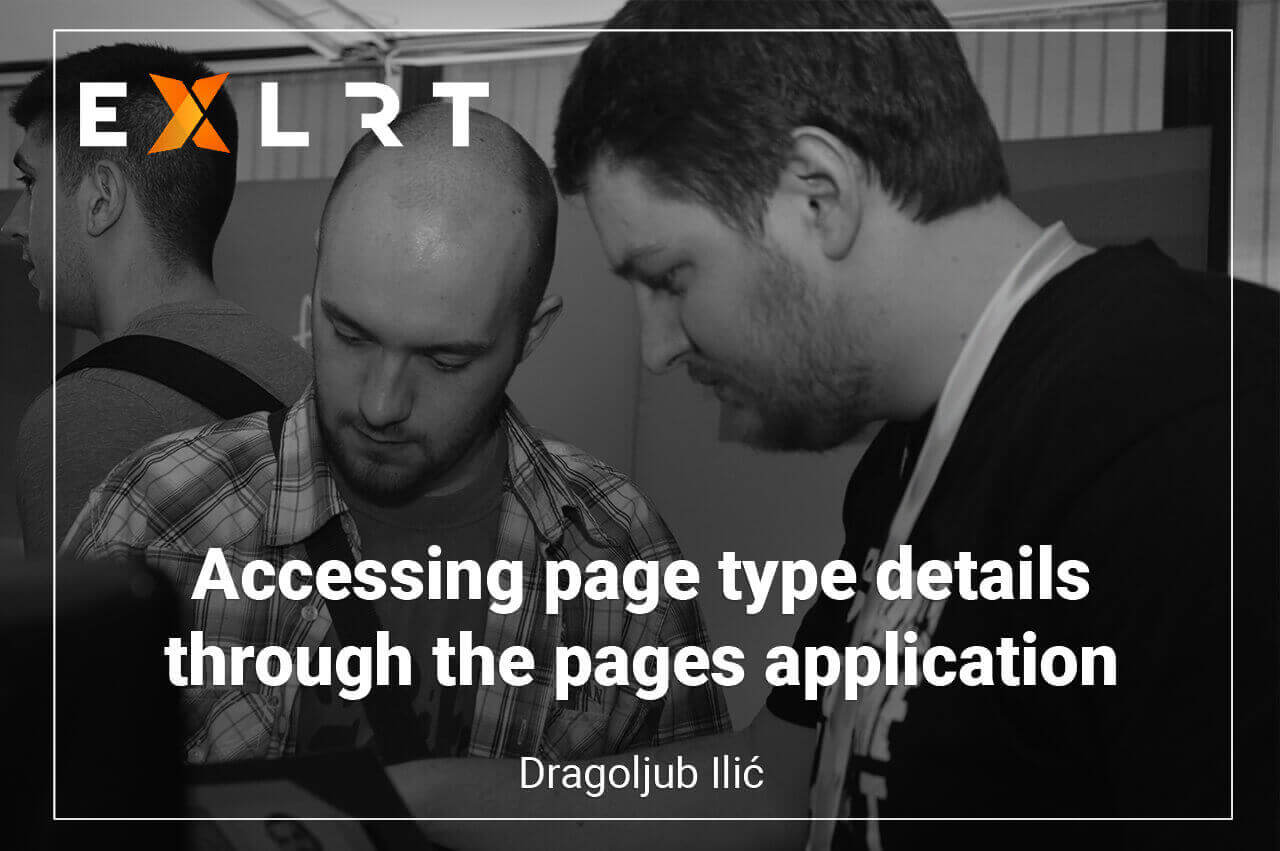 Accessing page type details through the pages application