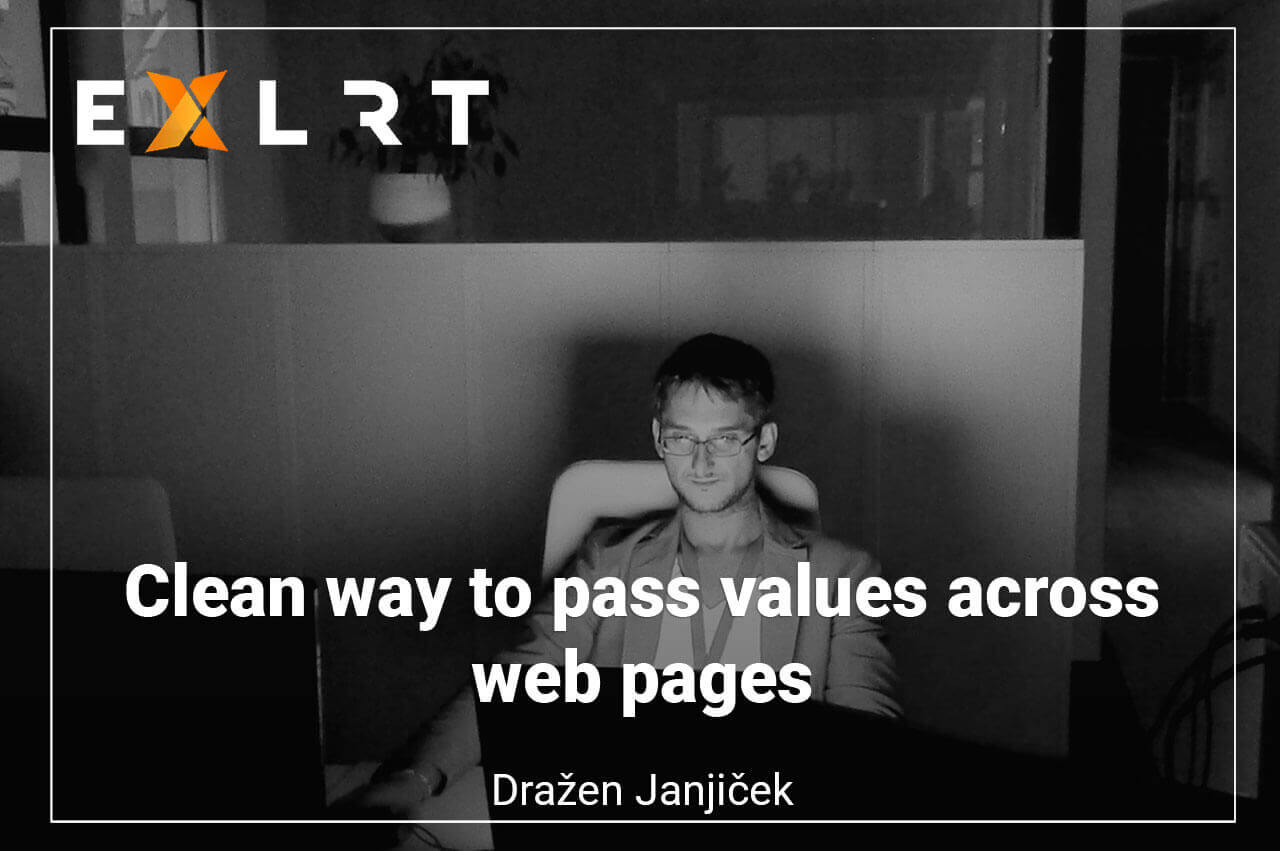 Clean way to pass values across web pages