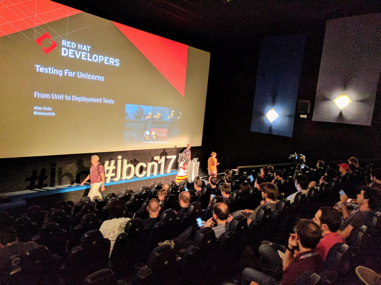Photo from the official Twitter account @jbcnconf