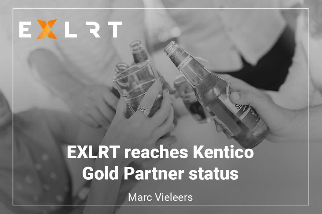 EXLRT reaches Kentico Gold Partner status