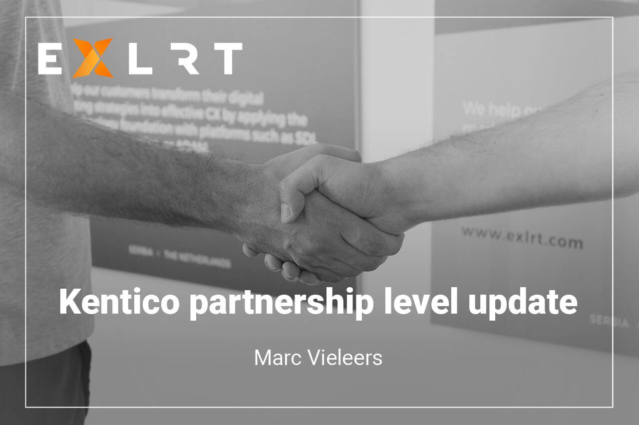 Kentico partner level update