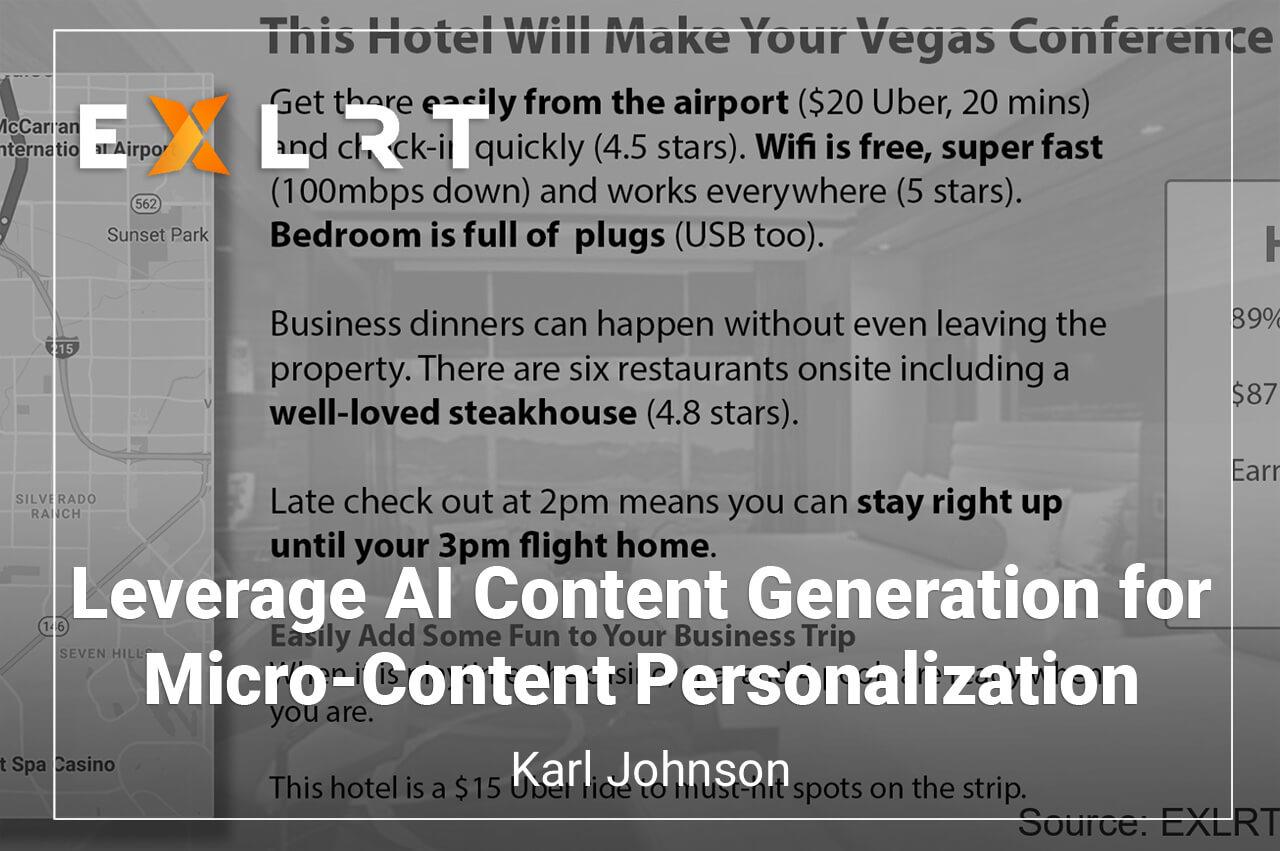 Leverage AI Content Generation for Micro-Content Personalization