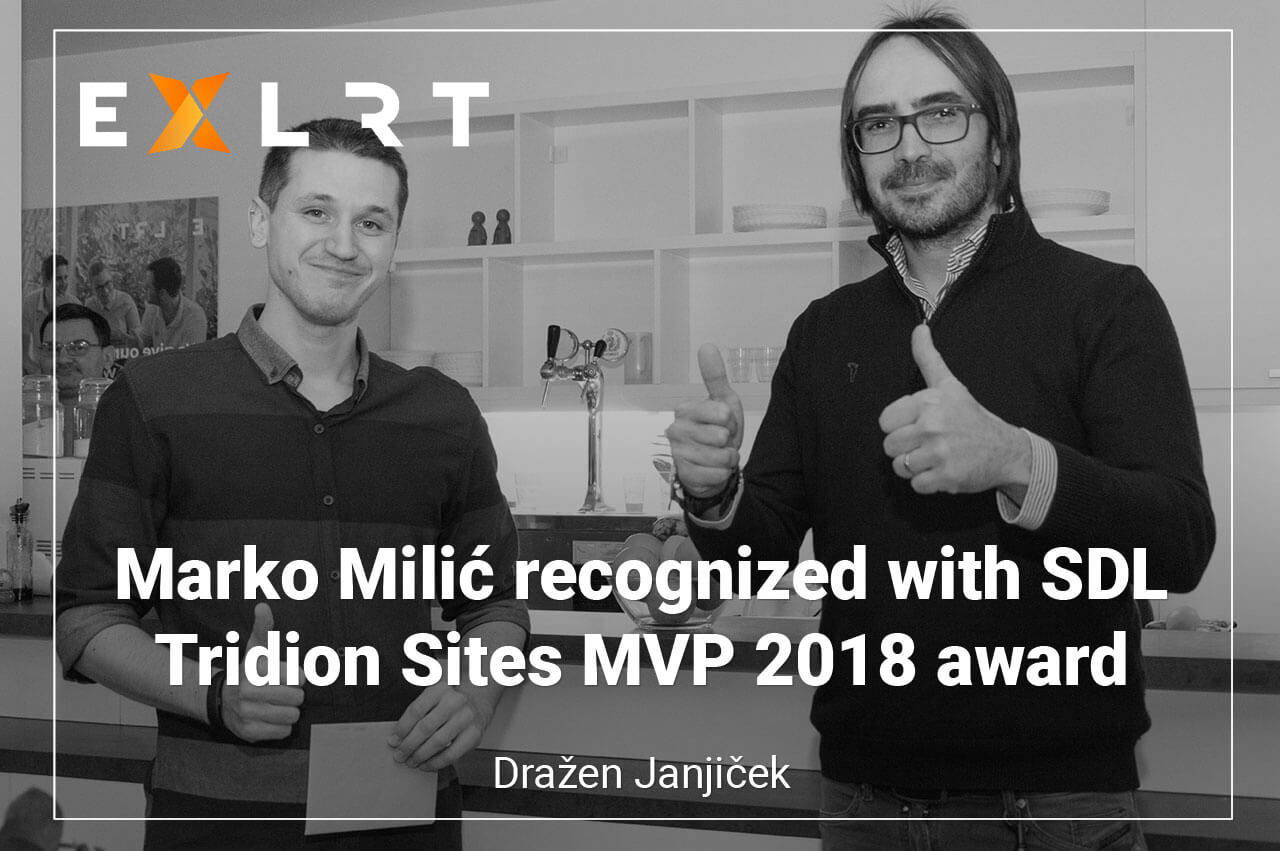 Marko Milic recognized with SDL Tridion Sites MVP 2018 award