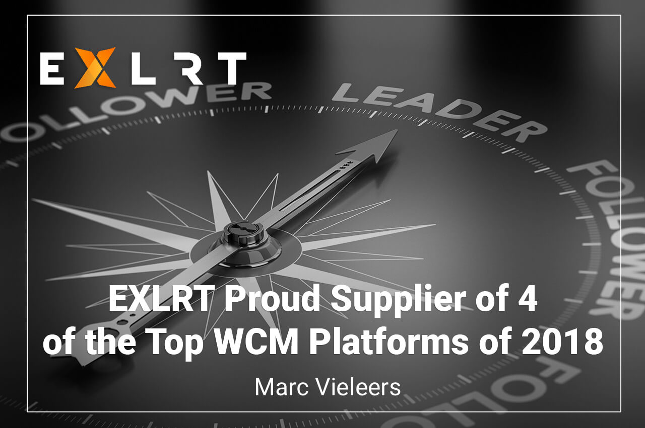 EXLRT Proud Supplier of 4 of the Top WCM Platforms of 2018