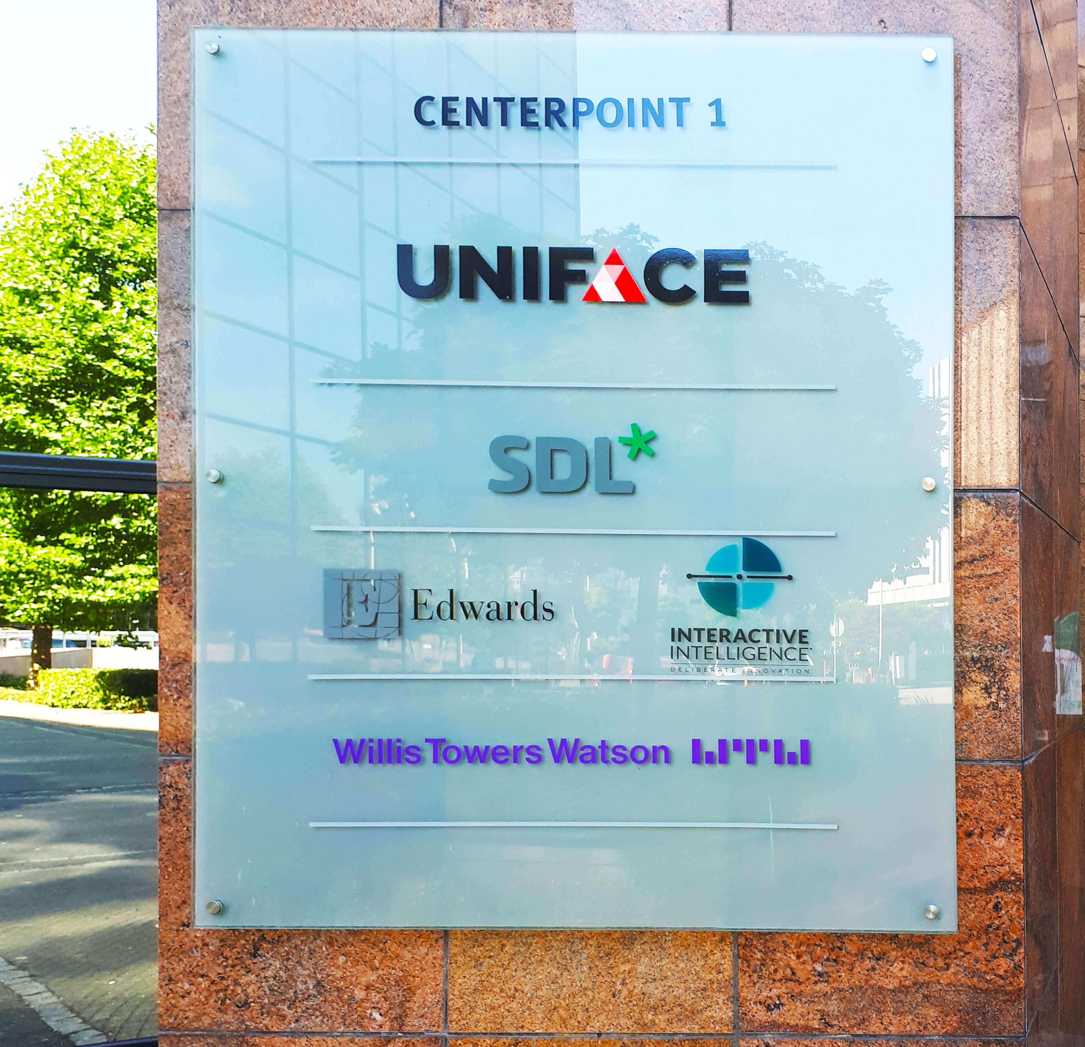 SDL's Amsterdam office entrance