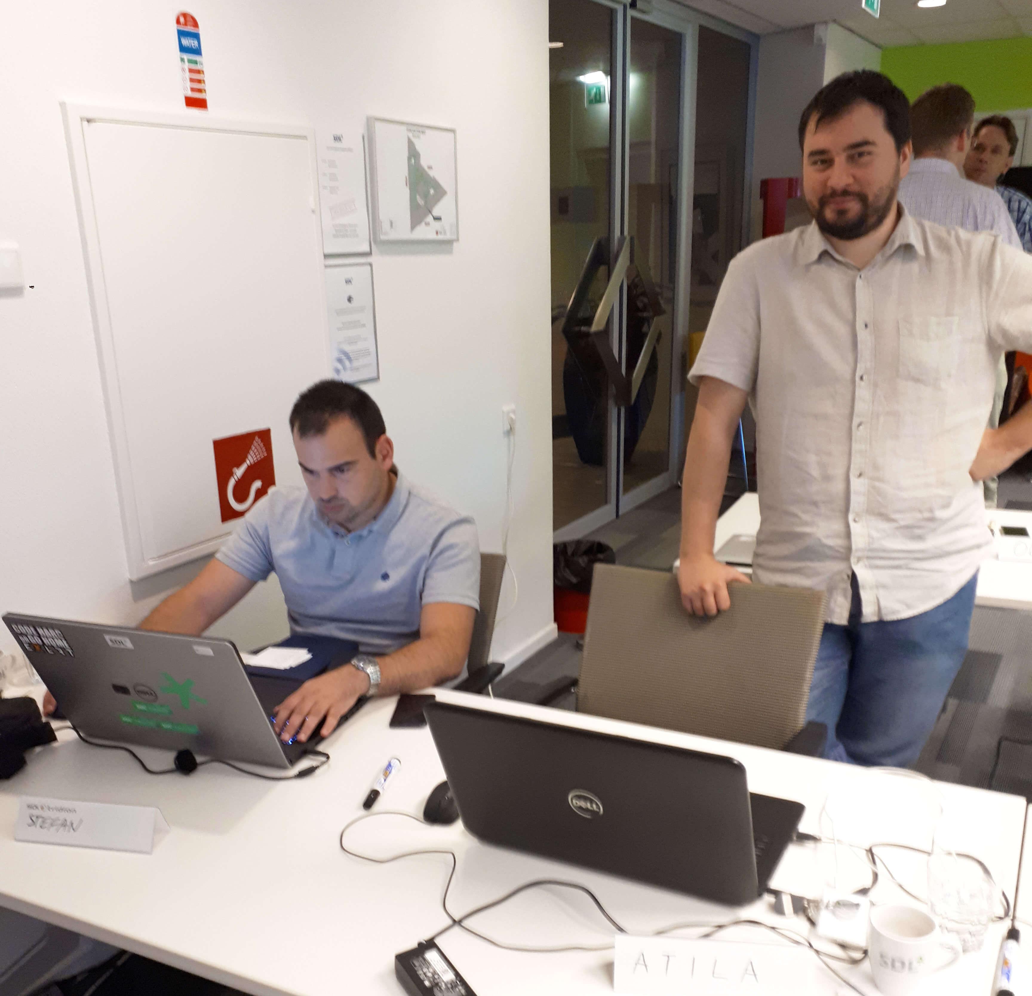 EXLRT at the SDL Tridion Sites 9 technical bootcamp (Stefan Klašnić – left, Atila Šoš – right)