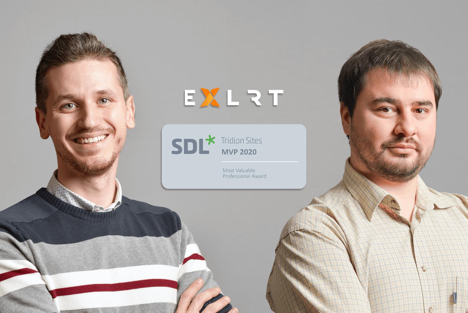 Two EXLRT Employees win SDL Tridion Sites MVP 2020 award